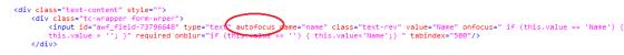 autofocus code